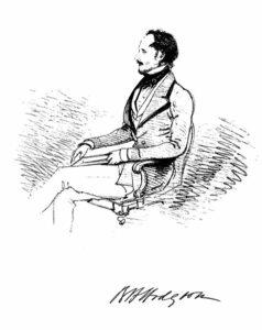 Brian H. Hodgson dessiné par William Tayler vers 1849